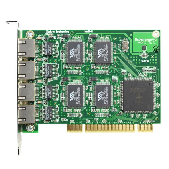 lan1741, PCI Quad ethernet board - top